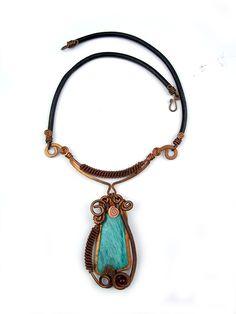 """Wire Wrap Necklace """"Zoe"""""""