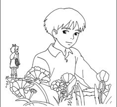 Shawn (Sho) meets Arrietty coloring page