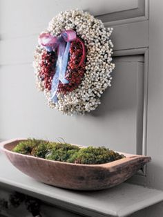 A traditional red and white Tallow berry wreath is an easy craft you'll enjoy all winter long.