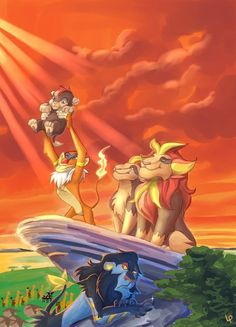 Pokemon style Lion King art!