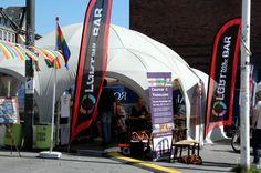 LGBT Danmarks telt på Pride Square,  Rådhuspladsen, København. Copenhagen Pride 2012.