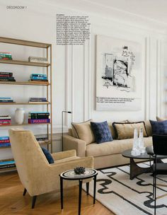 Mid Century Modern living room featured in Ideat international Home decorating magazine