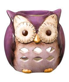 Purple Owl Candleholder