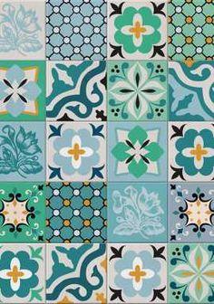 Azulejo Hidráulico Verde