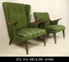Stylish Pair Mid Century Upholstered Chairs 0168 R | eBay