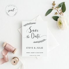 Wedding Announcement | Wedding Save the Date | Simple Rustic Save the Date DIY