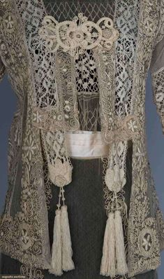 Lace Tea Gown & Jacket, C. 1914.