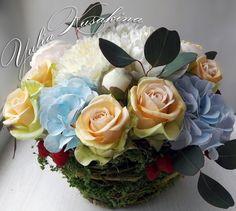 Роза с фактурными лепестками по МК Альбины Насыровой