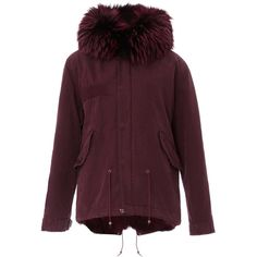 Mr & Mrs Italy     Coyote Lined Mini Parka ($4,655) ❤ liked on Polyvore featuring outerwear, coats, burgundy, parka coat, purple coat, burgundy parka coat, lined parka coats and fur-lined coats