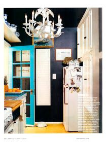 Chinoiserie Chic: An Iconic Navy Kitchen, next house kitchen colors without a doubt Teal Door, Turquoise Door, Turquoise Kitchen, Bedroom Turquoise, Light Turquoise, Navy Walls, Black Walls, Black Ceiling, Charcoal Walls