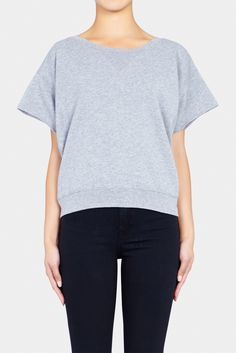 Love relaxed basics! Perfect for layering. Sweatshirt 9 by BLK DENIM at Green with Envy