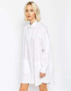 Bild 1 von ASOS WHITE – Hemdkleid mit Ziernähten