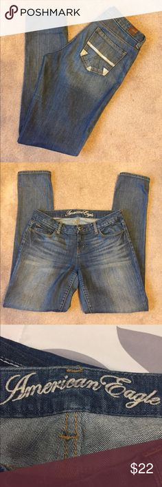 "American Eagle Live your life. Skinny. Size 8. Inseam 32"" American Eagle Outfitters Jeans Skinny"