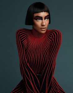 Jourdan Dunn, a British model, delivers fashion forward looks in the October 2017 issue of Prestige Hong Kong. The outfits include labels such as Balmain a