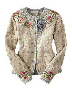 Bilderesultat for bordado no trico Gilet Crochet, Knit Crochet, Cardigan Sweaters For Women, Sweater Cardigan, Cardigans, Knit Sweaters, Ugly Sweater, Mode Vintage, Pulls