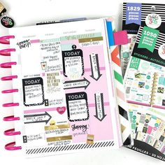 { Day 17 } #FridayFavorites ... These sticker books are GAME CHANGERS! I'm literally obsessed!!! Excited to finally have time (tomorrow) to play with all of my goodies!!! Here's a sneak peek for now  #thehappyplannerigchallenge