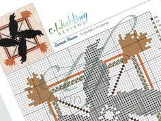 PDF CHART counted cross stitch Samhain Ravens by CTHdesign