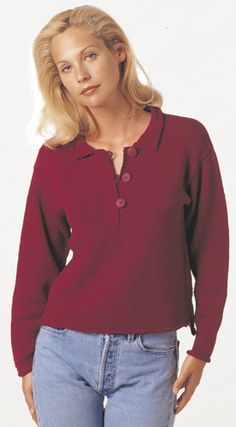 a sweater that looks like a polo shirt from Berroco called Eleanor