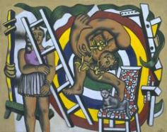 Fernand Léger 'The Acrobat and his Partner', 1948 © Charlotte Perriand. ADAGP, Paris and DACS, London 2015