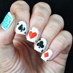 Pink & Polished:  poker Face #nail #nails #nailart
