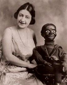 Tenny by vvitch, via Flickr vintage dark skin & white woman ventriloquists dummy dummies, creepy dolls