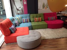floor seating Custom made floor level sofas available here in our Etsy store Pallet Furniture Sofa, Funky Furniture, Furniture Design, Living Room Seating, Living Room Sofa, Living Room Decor, Modul Sofa, Floor Sitting, Luxury Sofa