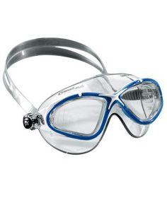 3846e458e4f Cressi Swim Saturn Crystal Mask UV Protective Silicone Swimming Goggles  (Blue