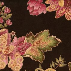 "54"" Wide Fabric by the Yard, Swavelle Luxuriance Century Onyx, Jade Rose Cream Jacobean Floral Print with Metalic Accents over Black Floral Jacquard by Swavelle, http://www.amazon.com/dp/B00BOVEVEK/ref=cm_sw_r_pi_dp_gIyzrb12YTNVZ"