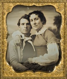 This couple has always seemed so comfortable with each other in comparison to the vast majority of sitters in nineteenth-century photographs.  Unidentified Photographer, Unidentified couple, woman seated on man's lap, ca. 1855, daguereotype, museum purchase, George Eastman House Collection