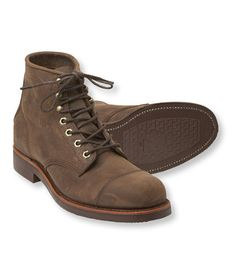 LL Bean x Chippewa® Katahdin Iron Works® Engineer Boots. Still handmade by the Chippewa® boot company, these boots feature a classic Munson last and premium Goodyear® welted construction for exceptional support and stability. Durable oiled-leather upper gains more character with every wear.