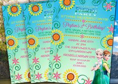 Frozen Fever Invitation-Frozen Invitation-Frozen by Hottomatoink2