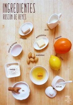 Ingredientes para un roscón de Reyes