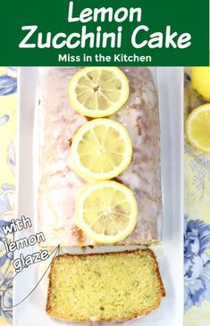 If you find yourself with more zucchini than you know what to do with, this lemon zucchini cake is just perfect! The shredded zucchini keeps the cake incredibly moist and the sweet buttermilk lemon glaze is amazing! Most Delicious Recipe, Delicious Dinner Recipes, Best Dessert Recipes, Sweet Recipes, Yummy Recipes, Cheesecake Desserts, Lemon Desserts, Easy Desserts, Lemon Zucchini Cakes