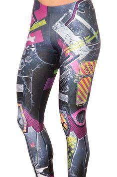 Kawaii Mecha Leggings (WW $75AUD / US $70USD) by Black Milk Clothing