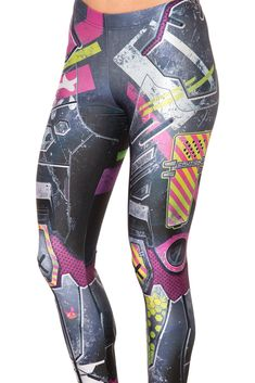 Kawaii Mecha Leggings (WW $75AUD / US $70USD) by Black Milk Clothing