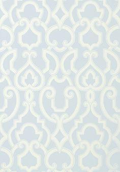 ROYAL, Aqua, T761, Collection Artisan from Thibaut // Wallpaper