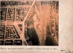 Bereich um den Potsdamer Güterbahnhof in Berlin ca 1884 (600 m Hoehe)Dennewitzplatz ohne Lutherkirche und ohne U-Bahn (Linie 2)