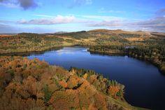 Beautiful autumnal aerial view of Burrator Reservoir, Dartmoor National Park #lovedartmoor #GREATdaysout