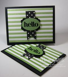 inked stripe embossing folder