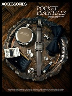 """Pocket Essentials"" for Dress to Kill magazine. Photo by Joseph Saraceno, Judy Inc."