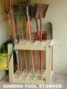 Garden Tool Rack Woodworking Projects Amp Plans