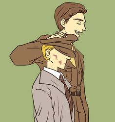 captain america Bucky & Steve