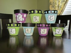 Totally love these monogrammed pots! I so need one of these!!