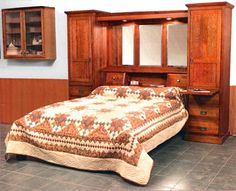 side cabinets with pull out tray and bridge bedroom wall - Pier Wall Bedroom Furniture