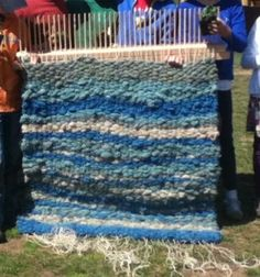 almost finished rug, done by by students in a 3rd Waldorf School
