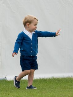 Prince George of Cambridge attends the Gigaset Charity Polo Match at Beaufort Polo Club on June 14, 2015 in Tetbury, England.