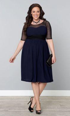 Blue n black dress cocktail