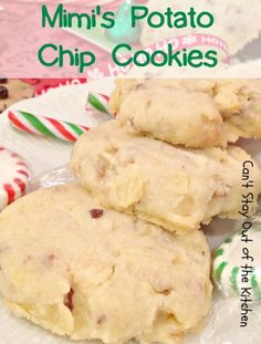 Mimi's Potato Chip Cookies | Can't Stay Out of the Kitchen | amazing #sugarcookies with #potatochips! #cookie #dessert #pecans