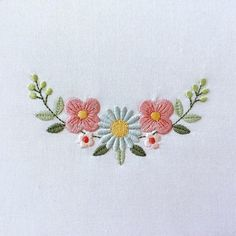 floral embroidery CODE: Please note these are digital files, not iron-on patches. You must have an embroidery machine in order to use them. This design comes in four different Border Embroidery Designs, Hand Embroidery Videos, Floral Embroidery Patterns, Embroidery Hoop Art, Crewel Embroidery, Ribbon Embroidery, Machine Embroidery Designs, Art Patterns, Japanese Embroidery