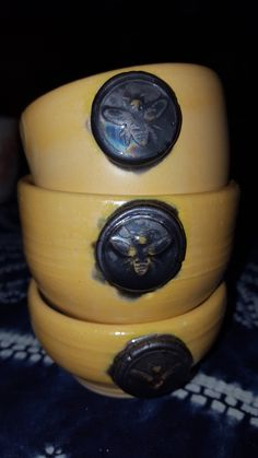Little Stingers Bee bowls Ceramics Hepcatart Ceramic Bowls, Artworks, Rings For Men, Bee, Ceramics, Jewelry, Ceramica, Men Rings, Honey Bees